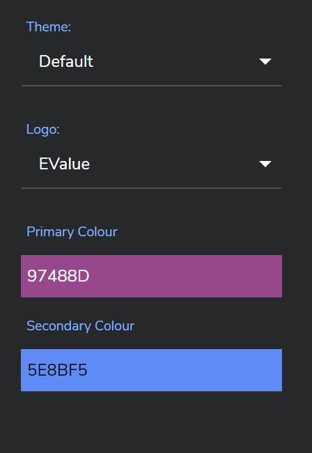 EValue personalised video theme customisation