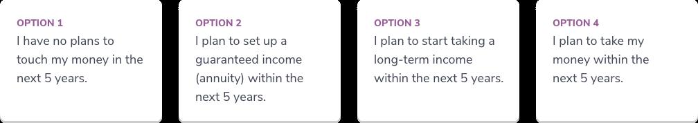 Options 1-4